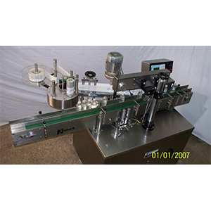 Automatic Round Cum One Side Flat Bottle Labeling